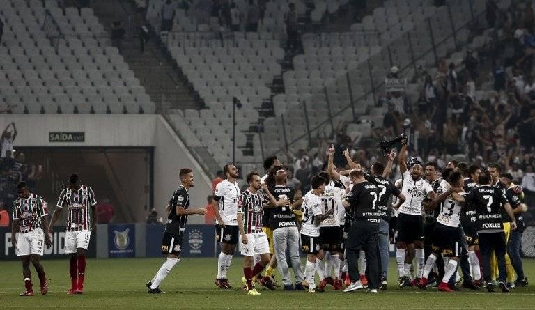 Corinthians festejó / imagen: AFP