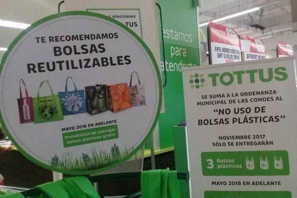 Bolsas reutilizabas en Las Condes