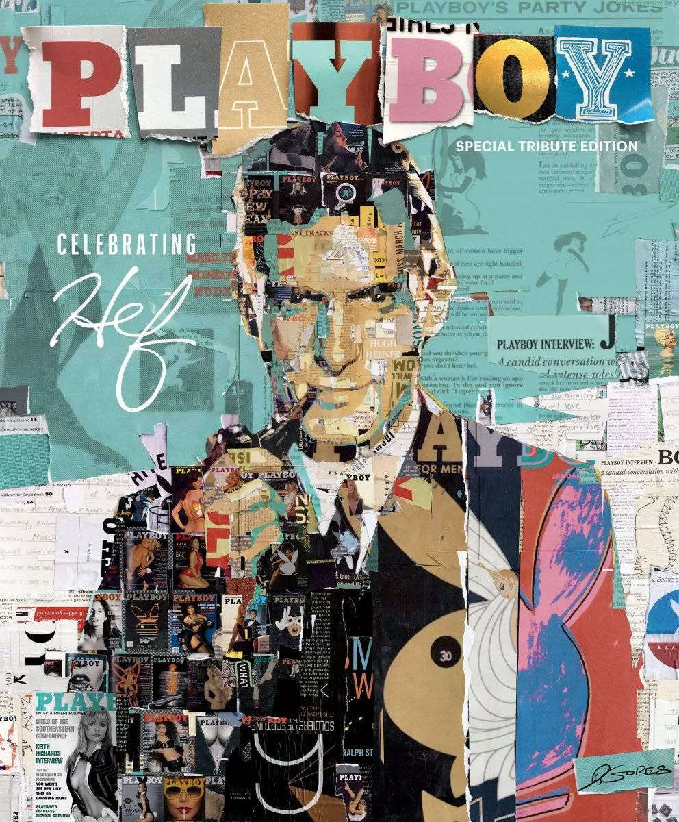 Fotografía cedida de la portada diseñada por el famoso artista Derek Gores para la edición especial limitada de la revista Playboy