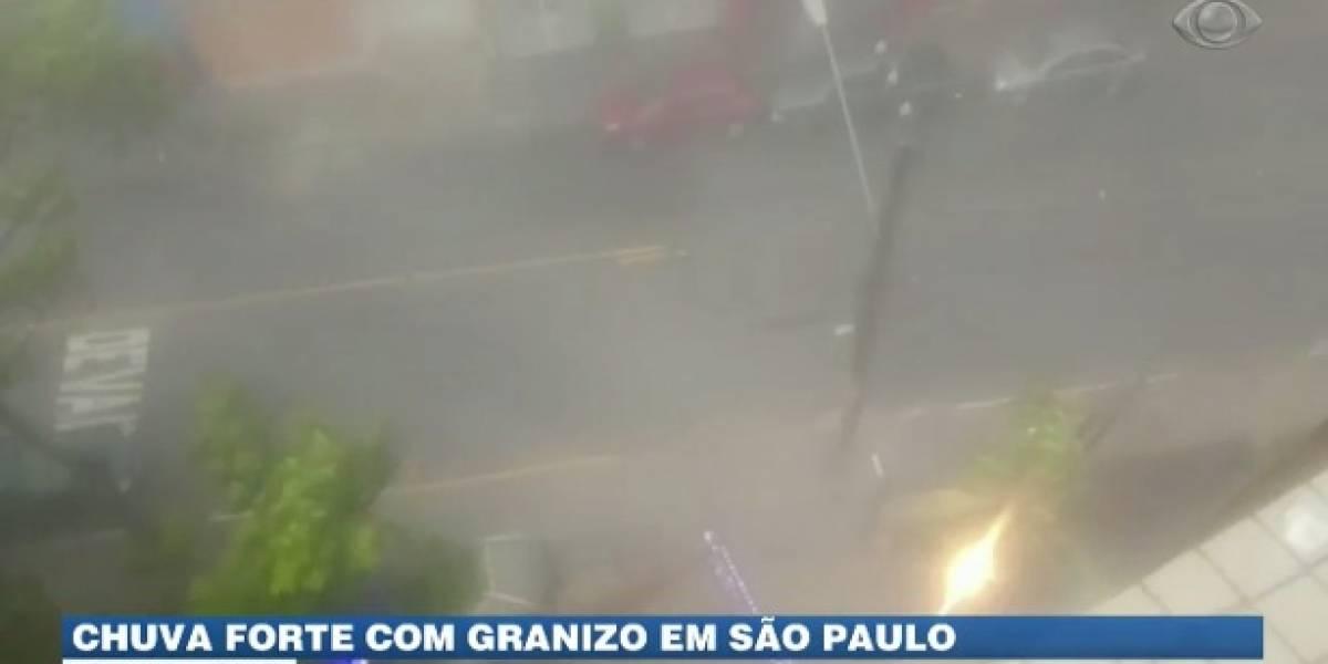 Excesso de calor causa temporal em São Paulo