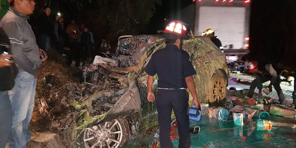 VIDEO. Accidente en ruta a Santa Lucía Milpas Altas deja al menos un fallecido