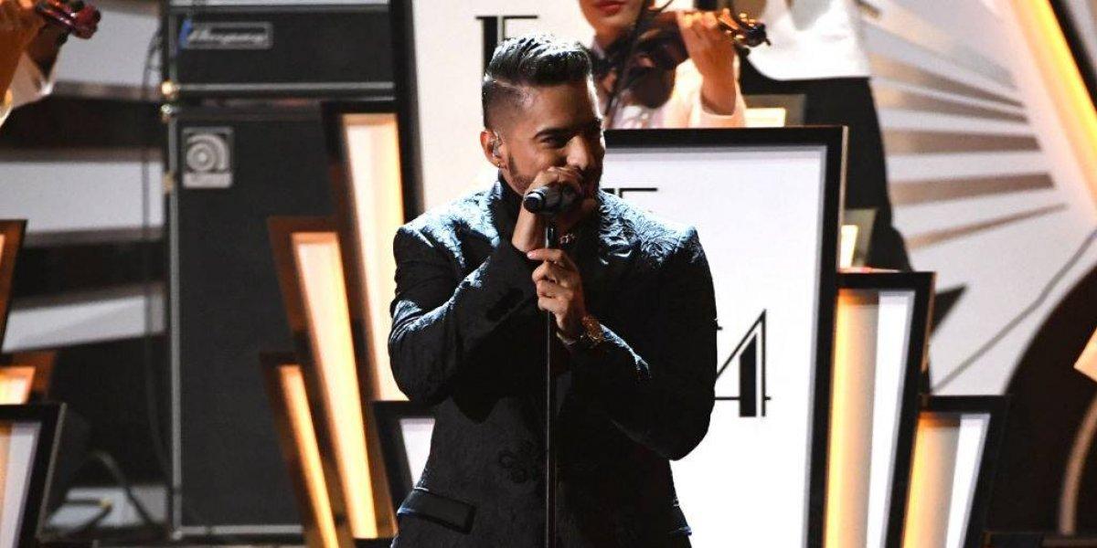 Maluma decepciona con presentación en los Grammy Latinos