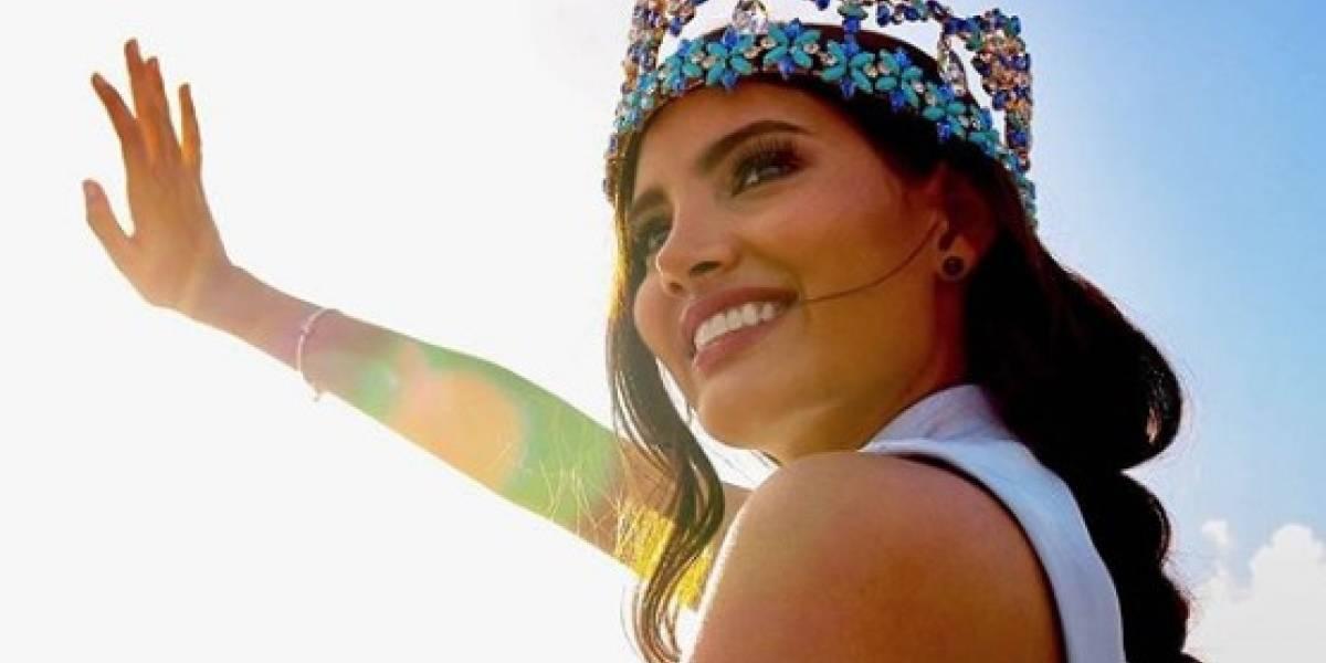 Con este vestido Stephanie del Valle entregará su corona de Miss Mundo