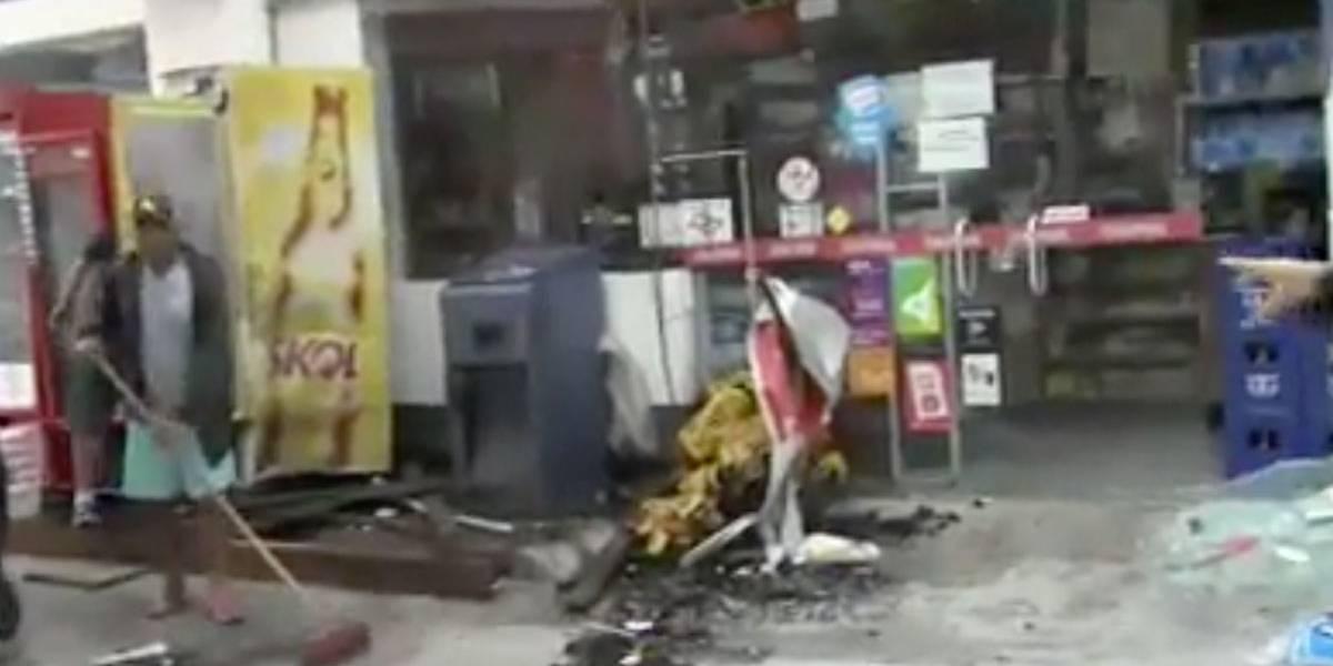 Criminosos invadem posto de combustíveis e explodem cofre em SP