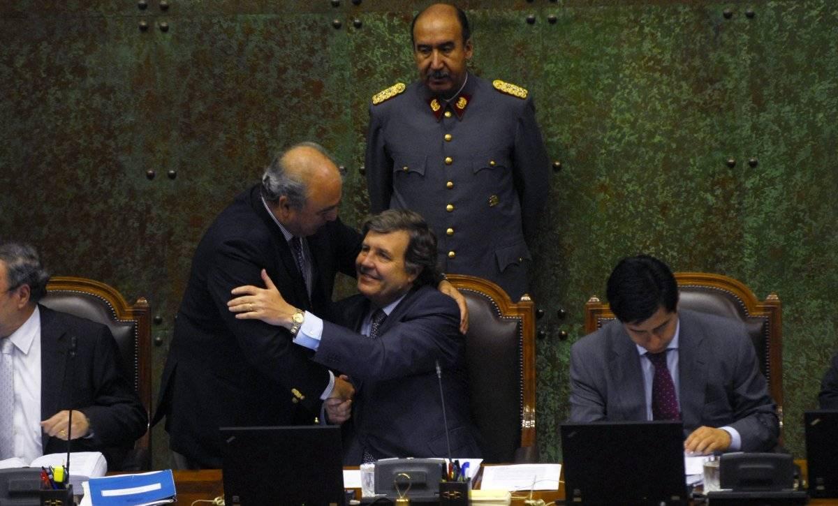 René Manuel García saludando a Patricio Melero.