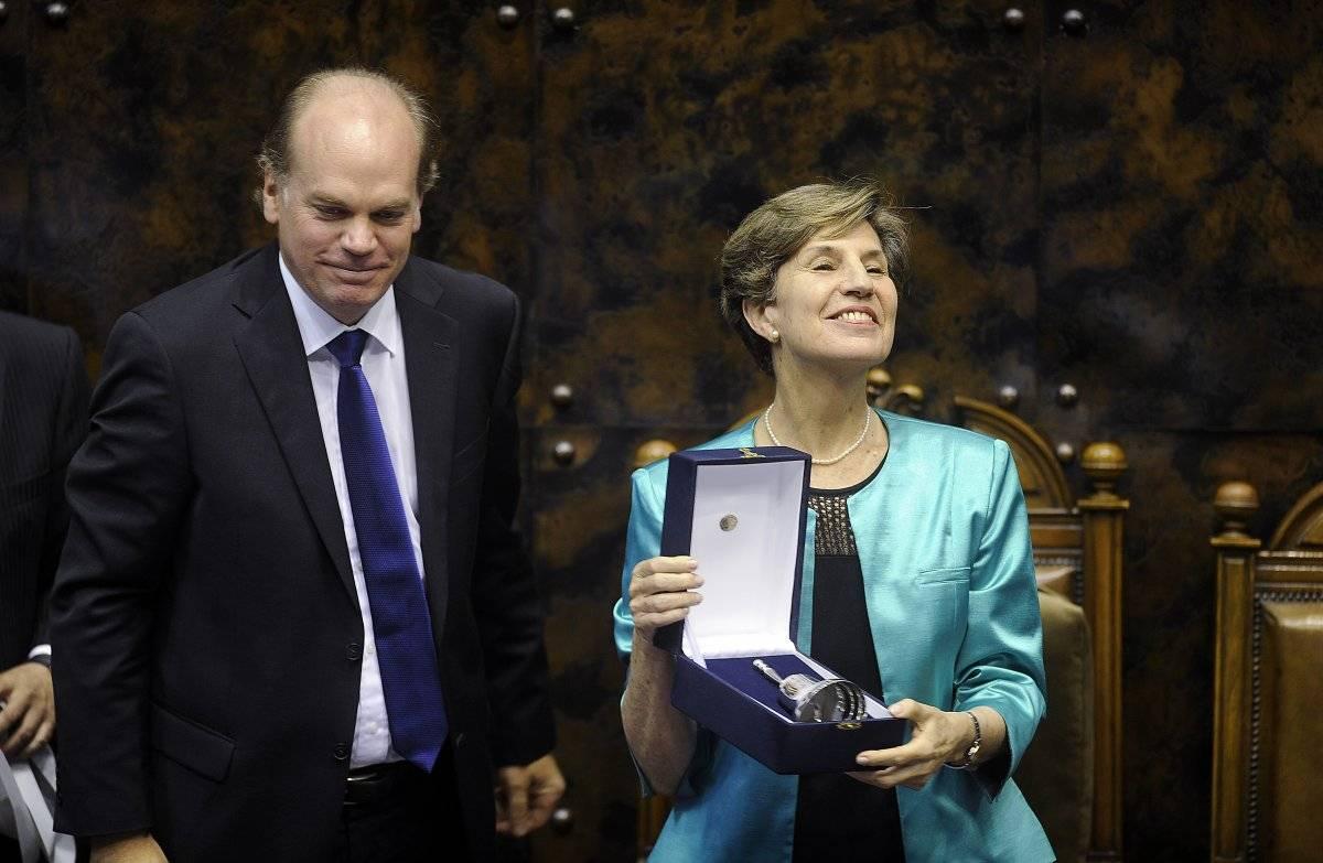 Isabel Allende y Patricio Walker