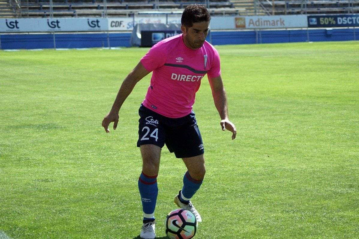 El veterano Cristián Álvarez jugó y anotó un gol / Foto: cruzados.cl