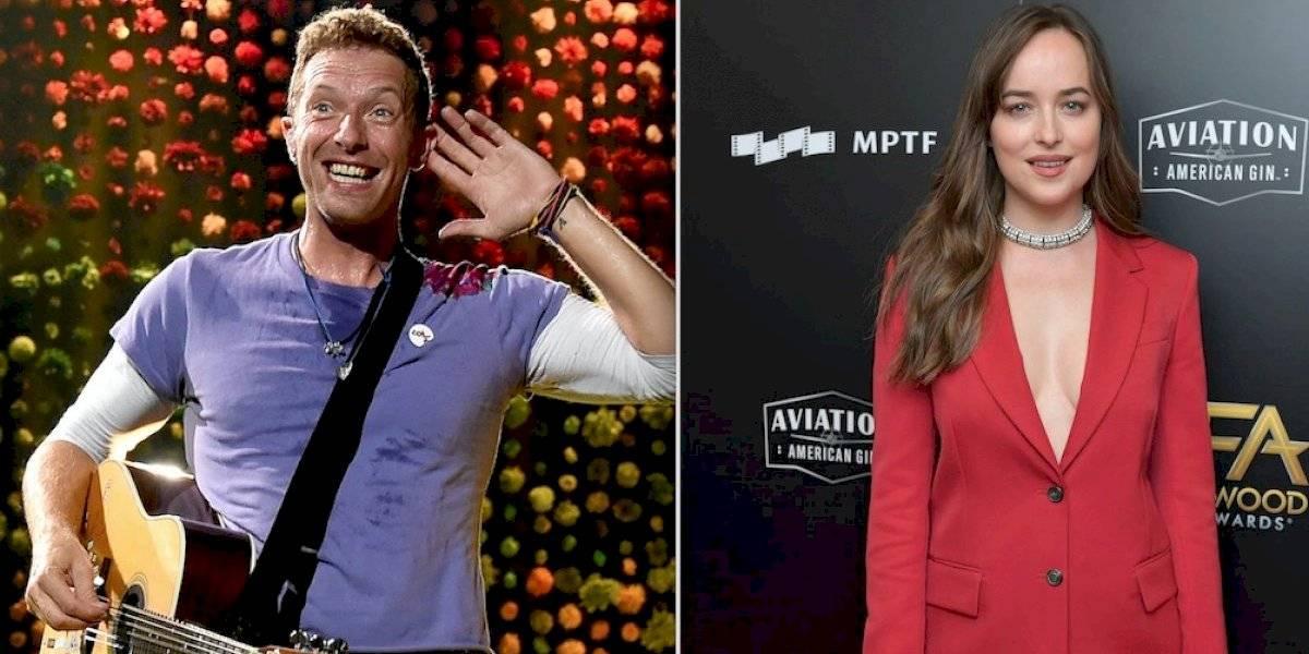 Dakota Johnson trabaja con su novio Chris Martin y dirige video clip de Coldplay