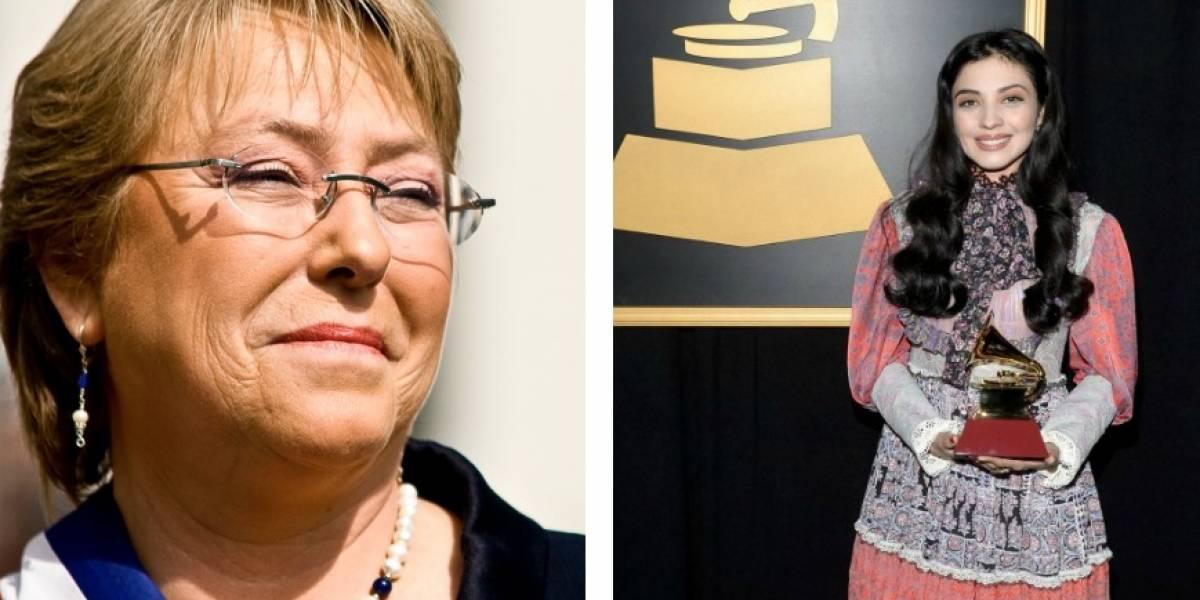 El especial saludo de la presidenta Michelle Bachelet a Mon Laferte por su Grammy Latino