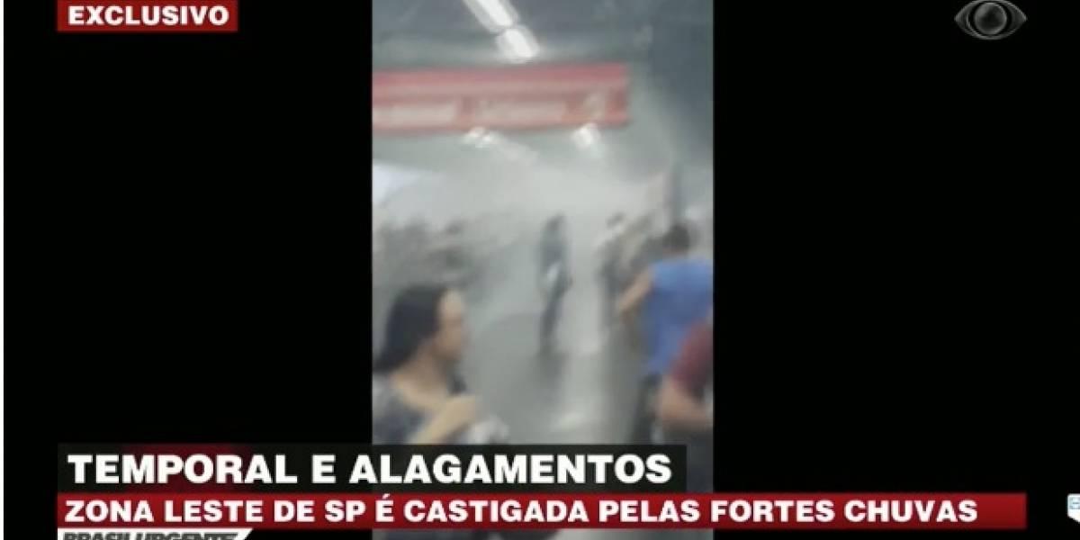 Chuva deixa zona leste de São Paulo em estado de atenção