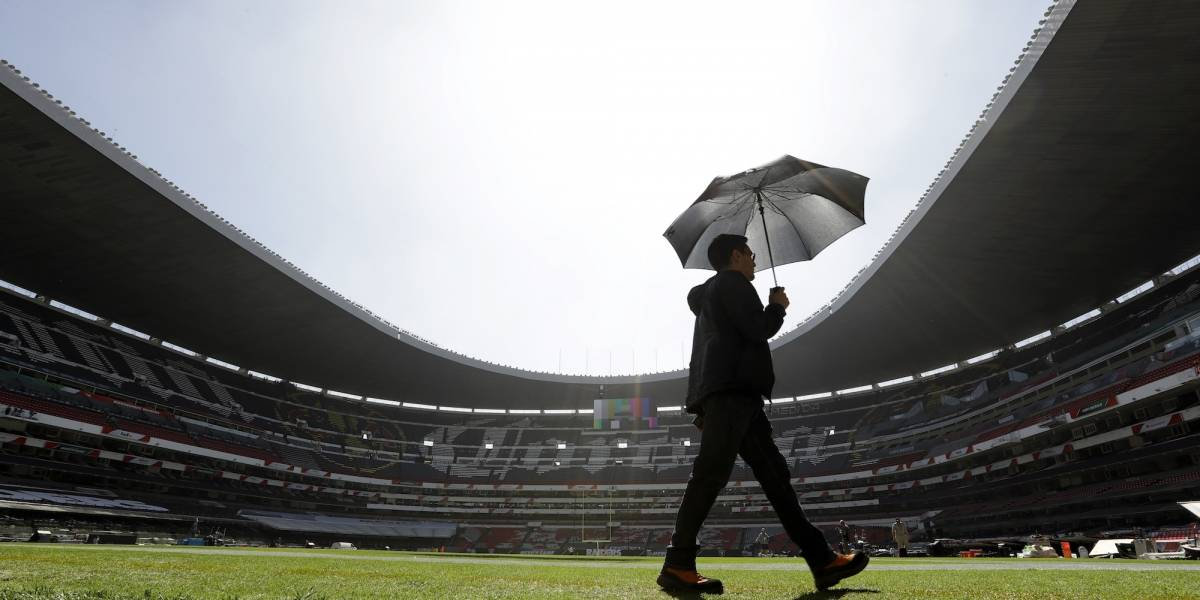 FOTOS: Así luce el Estadio Azteca a dos días de la NFL en México