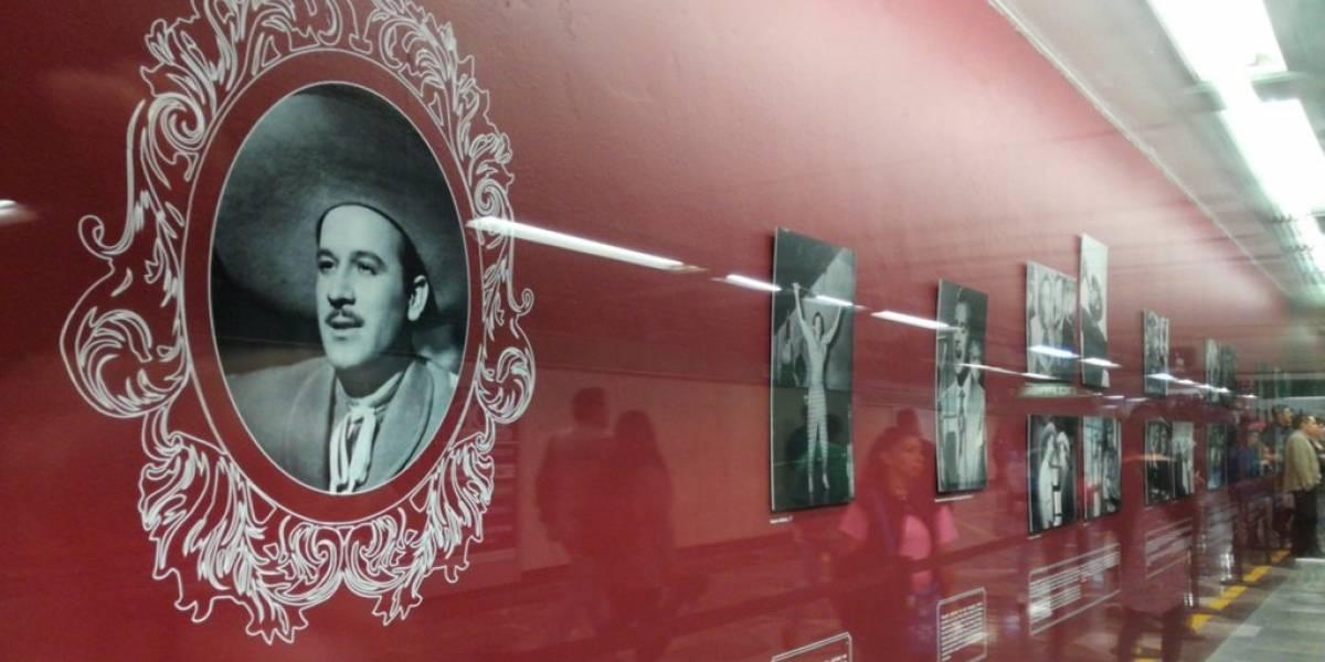 Pedro Infante es honrado en el Metro con exposición fotográfica