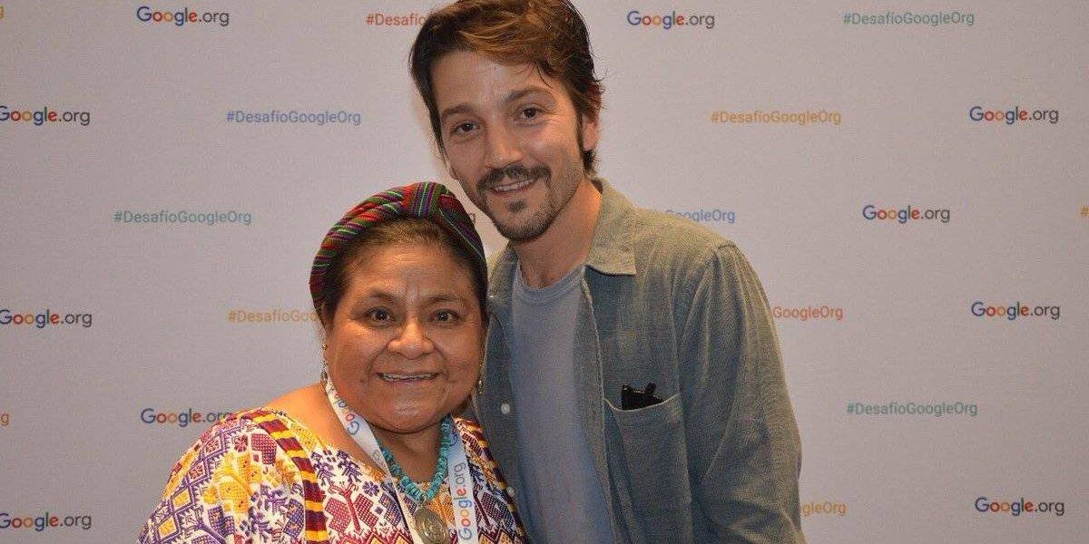 Diego Luna conoció a Rigoberta Menchú y esto es lo que opina de ella