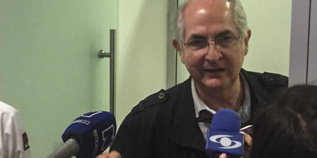 """El opositor Antonio Ledezma escapa de Venezuela, cruza a Colombia y llega a España tras """"una travesía peliculesca"""""""