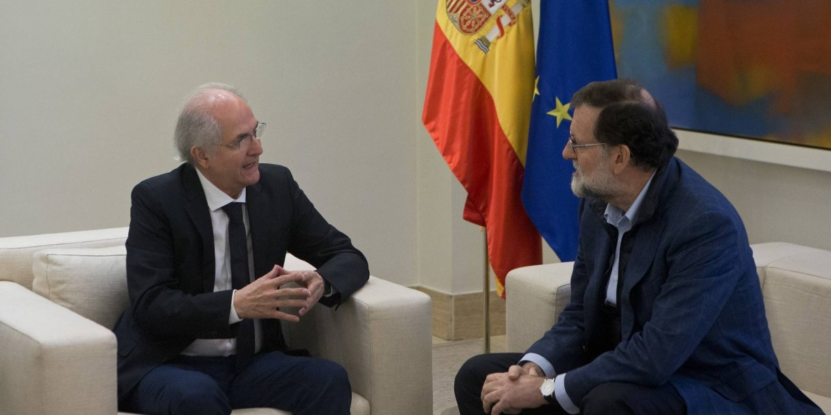 Ex alcalde de Caracas se entrevista con Mariano Rajoy