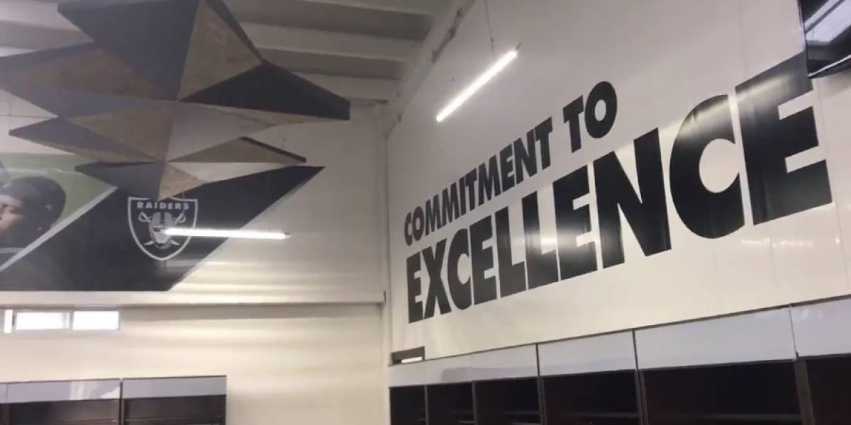 VIDEO: ¡De lujo! Así luce el vestidor de los Raiders en el Estadio Azteca