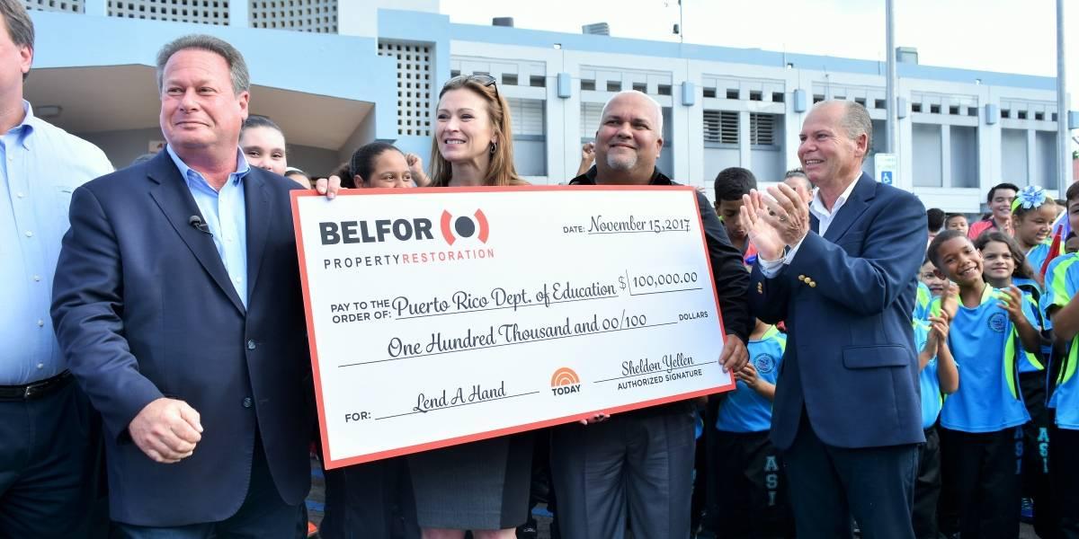 Educación recibe donativo de $100,000 para mejorar escuelas
