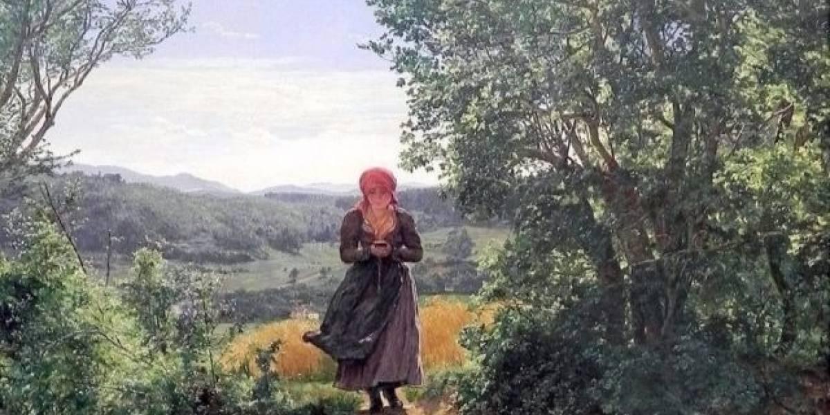 Internet 'descobre' nova evidência do uso do smartphone no século 19 em pintura escocesa