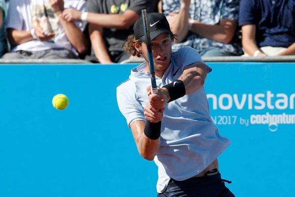 Jarry mostró un sólido tenis de principio a fin en el Club de Polo San Cristóbal / Foto: Photosport