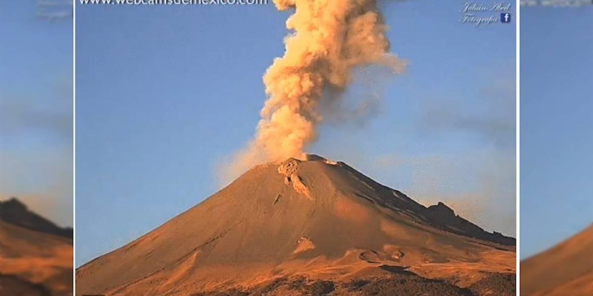 Popocatépetl emite 310 exhalaciones en las últimas 24 horas