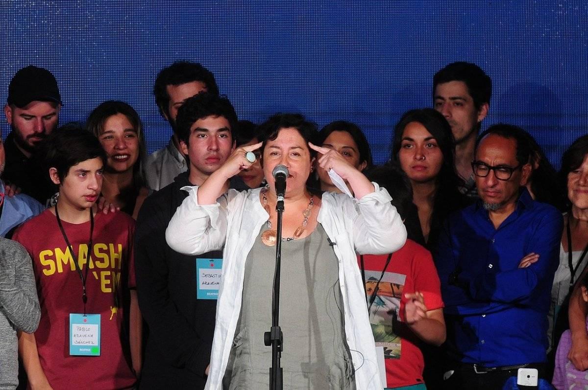 Beatriz Sánchez celebró su alta votación / imagen: Agencia UNO