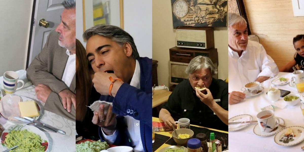 Frutita, pan con palta y huevo: esto fue lo que desayunaron los candidatos presidenciales