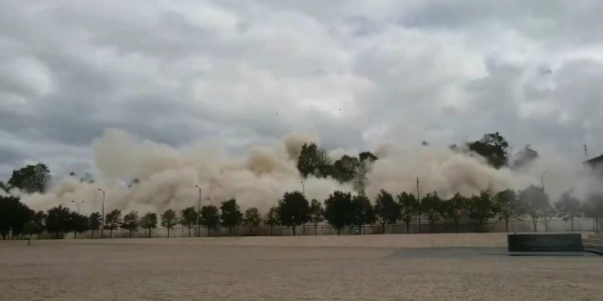 Vea la implosión del edificio del Ministerio de transporte