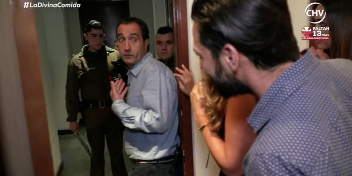"""Pablo Zalaquett sufrió con llegada de Carabineros en """"La divina comida"""""""