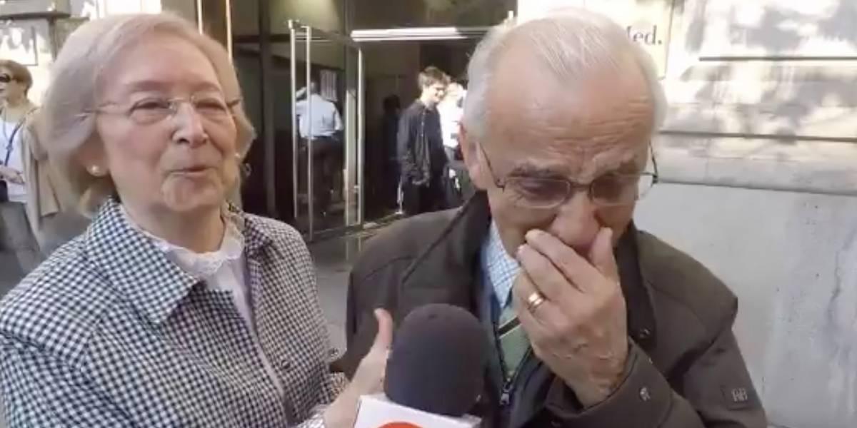 """""""No votaba desde el 4 de septiembre de 1970"""": abuelito de 82 años llora de emoción tras sufragar en España"""
