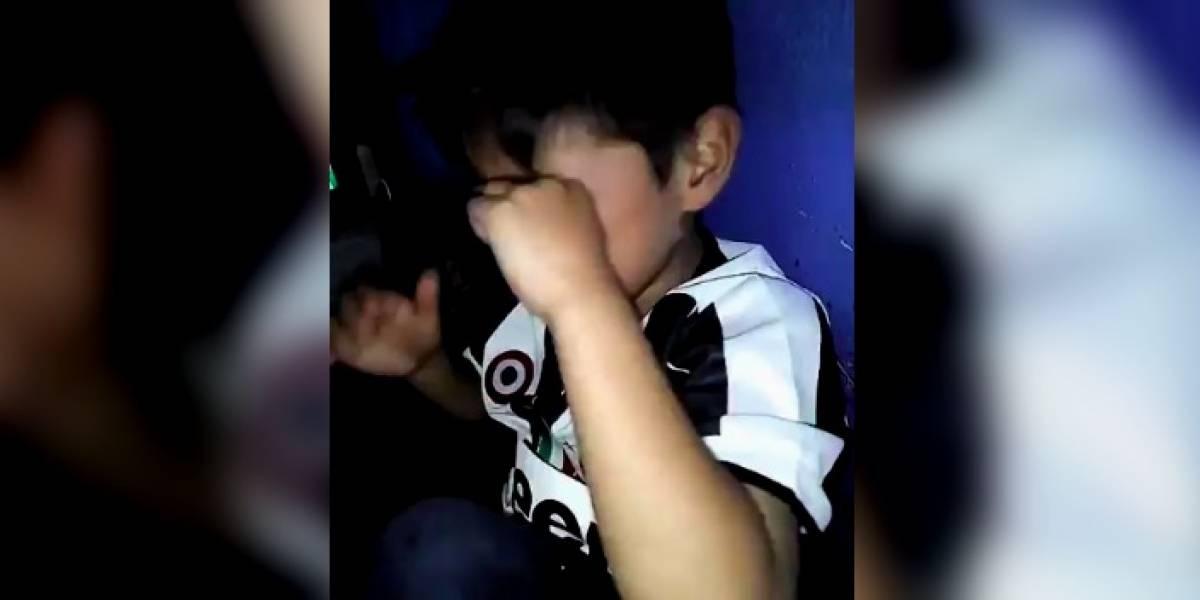 VIDEO: Niño llora de alegría por clasificación del Cruz Azul a Liguilla