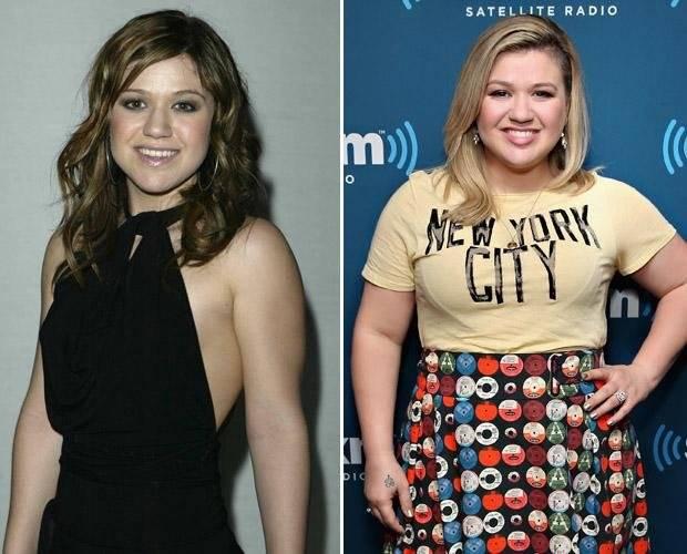 Kelly Clarkson antes y despúes