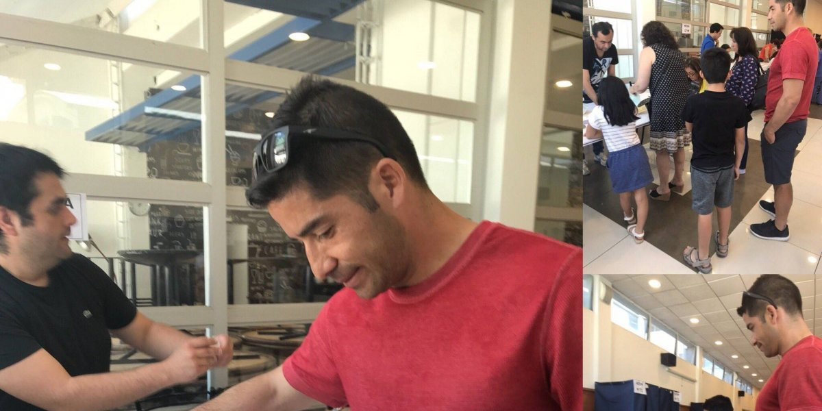 Golazo en la urna: Capitán de la UC y figura de Wanderers dan el ejemplo en las elecciones