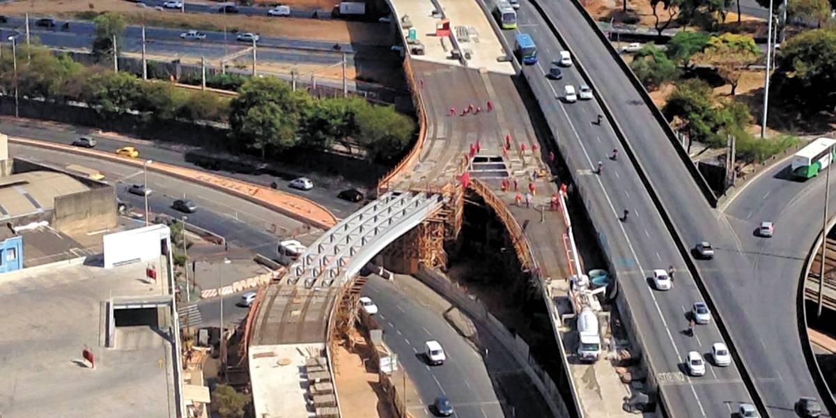 Novo viaduto na Lagoinha, em Belo Horizonte, deve ser liberado em janeiro