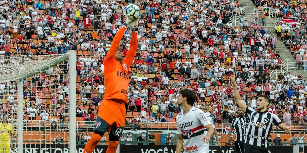 Em empate sem gols contra o Botafogo, São Paulo fica mais longe da Libertadores
