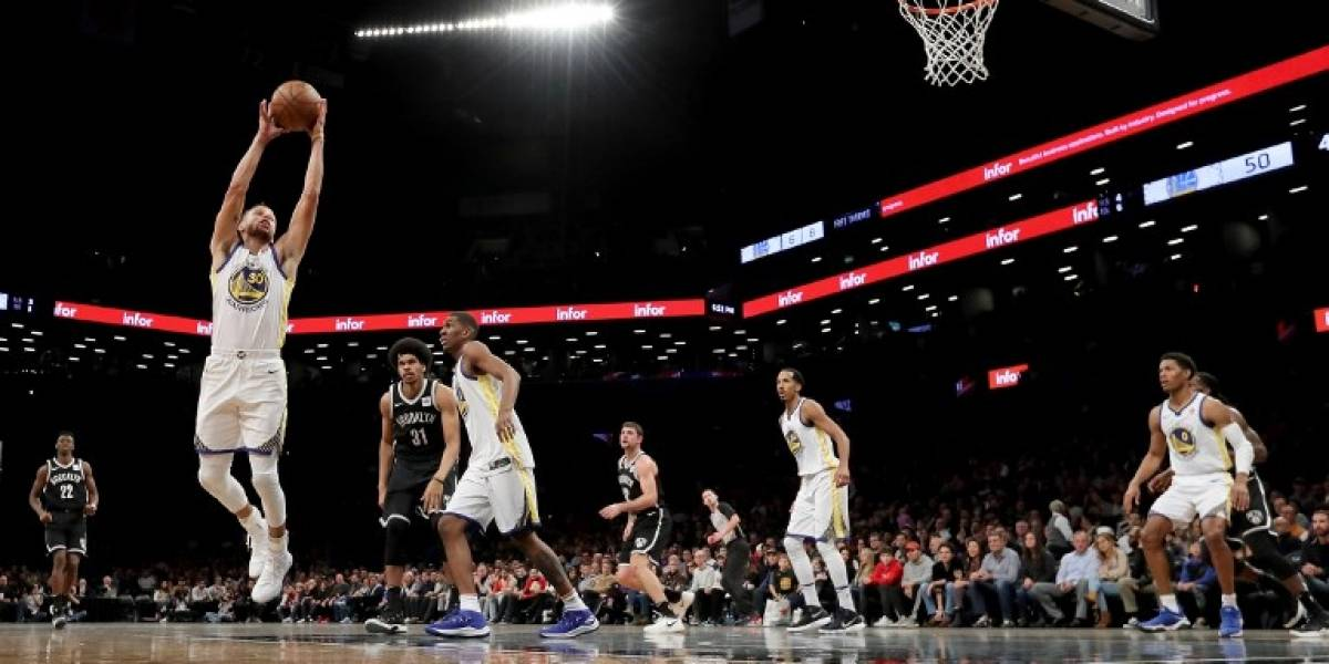 Stephen Curry se lució en el triunfazo de los Warriors en la NBA