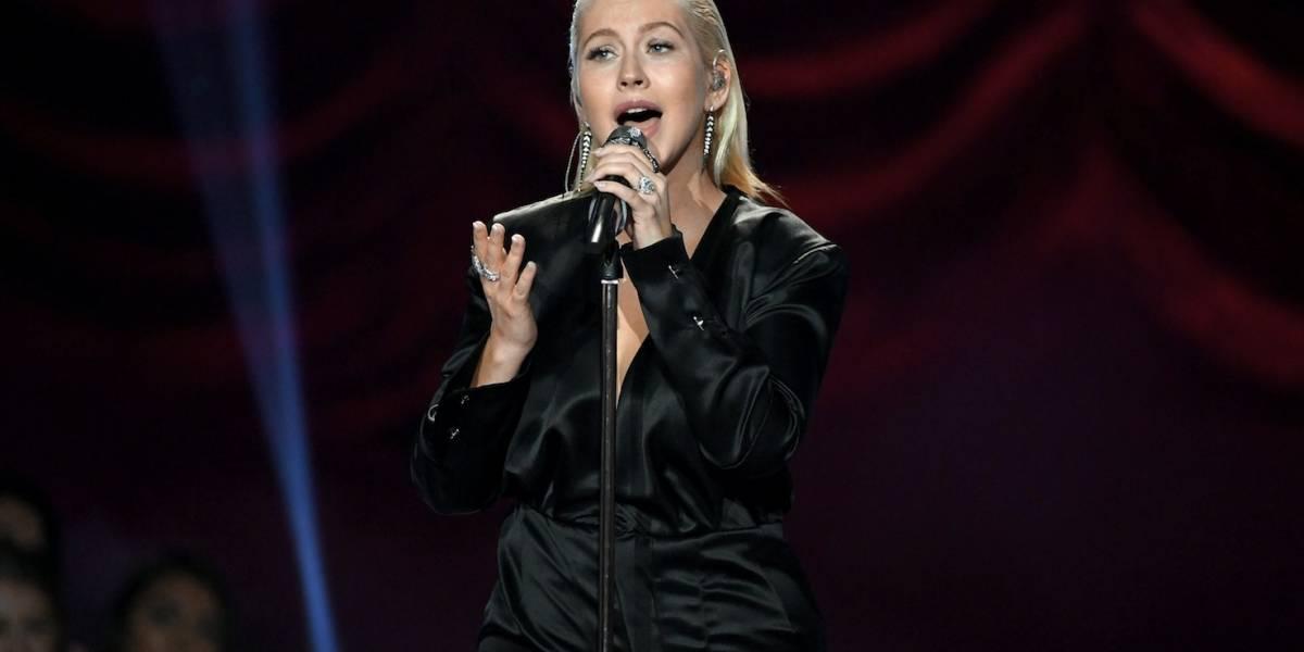 El gesto de Pink durante la presentación de Christina Aguilera en los AMAs que generó polémica