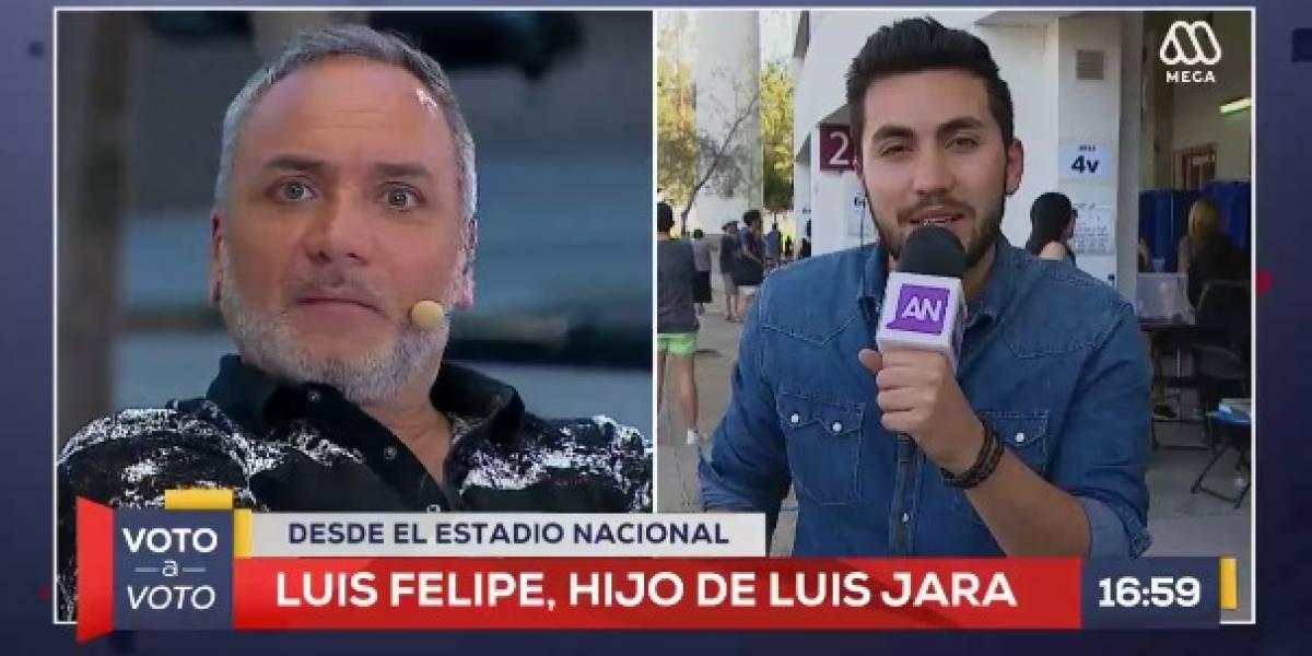 Hijo de Luis Jara debutó como notero en Mega y así reaccionaron las redes sociales