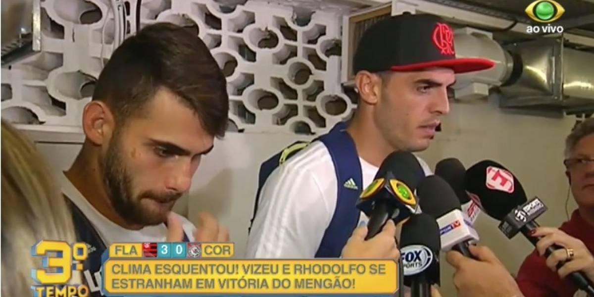 Flamengo diz que punirá Rhodolfo e Vizeu, mas despista: 'Fica internamente'