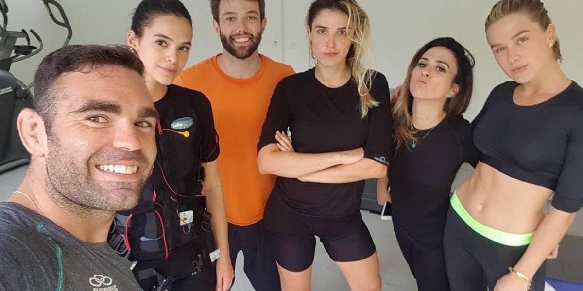 Bruna Marquezine, Rafa Brites, Tata Werneck e Fiorella treinam juntas