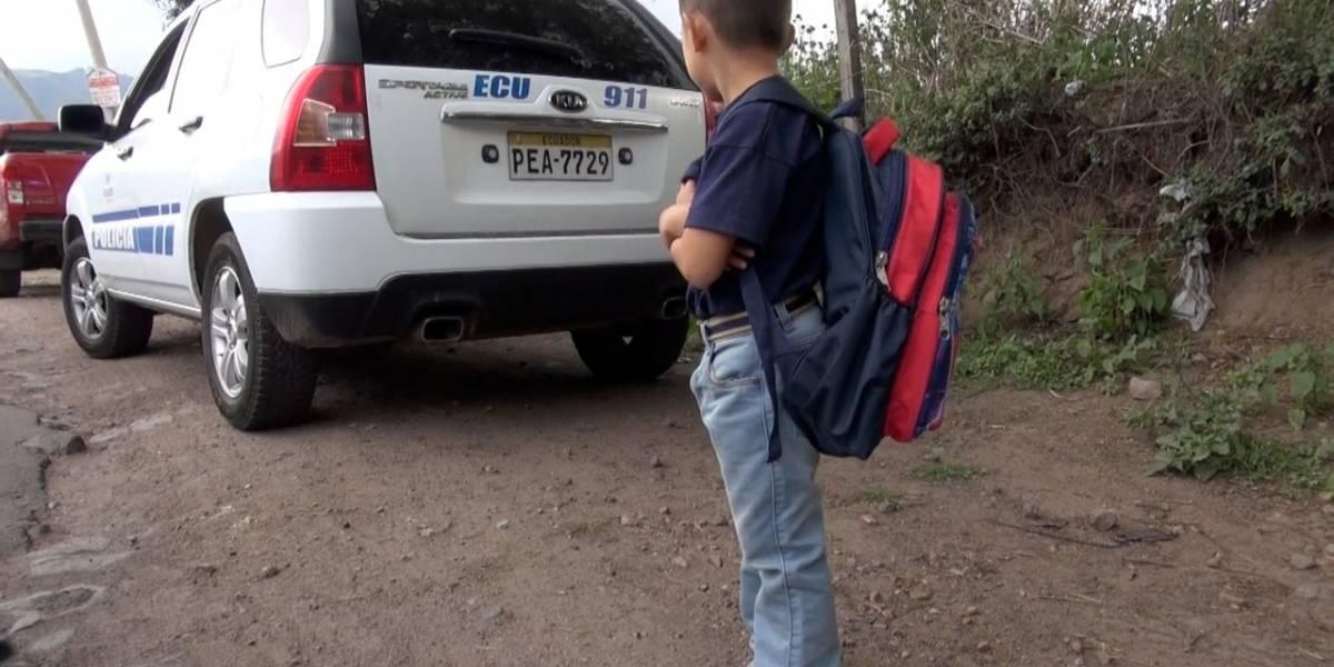 Policía halló a niño que había escapado de su mamá en Lumbisí