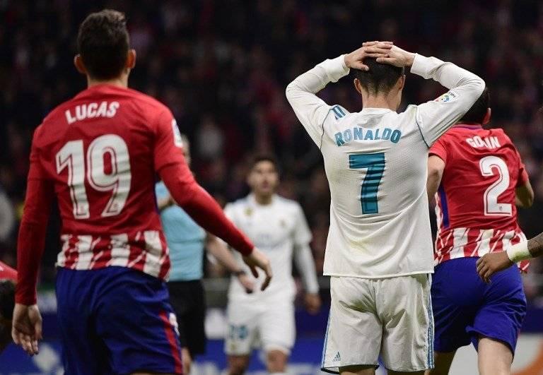 Cristiano Ronaldo contra el Atlético de Madrid