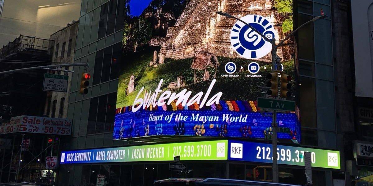 Bellezas de Guatemala atraen a turistas desde el Time Square de Nueva York