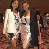 Miss Puerto Rico y Miss Sudáfrica