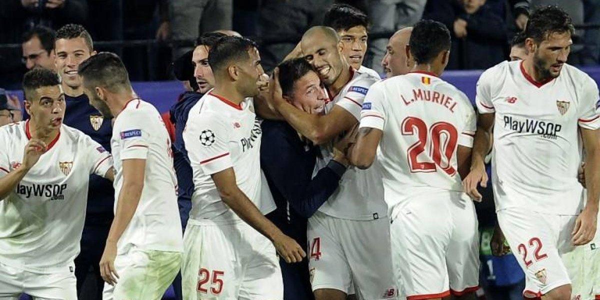 Sevilla remontó un loco partido para empatar con Liverpool y dejar abierto su grupo de Champions