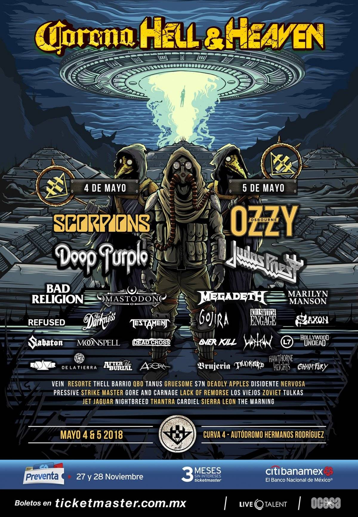 Line-up oficial del festival.