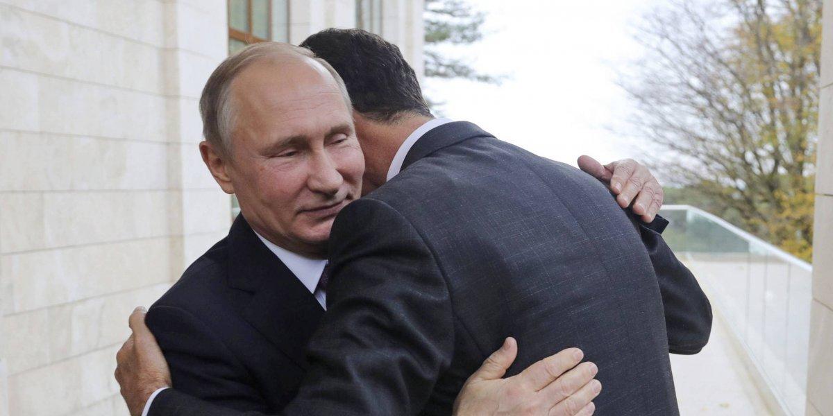 El abrazo entre Putin y al Assad que marcaría el fin de la Guerra en Siria