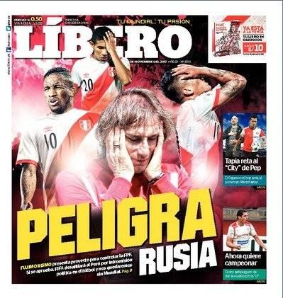 La portada del Líbero de este lunes