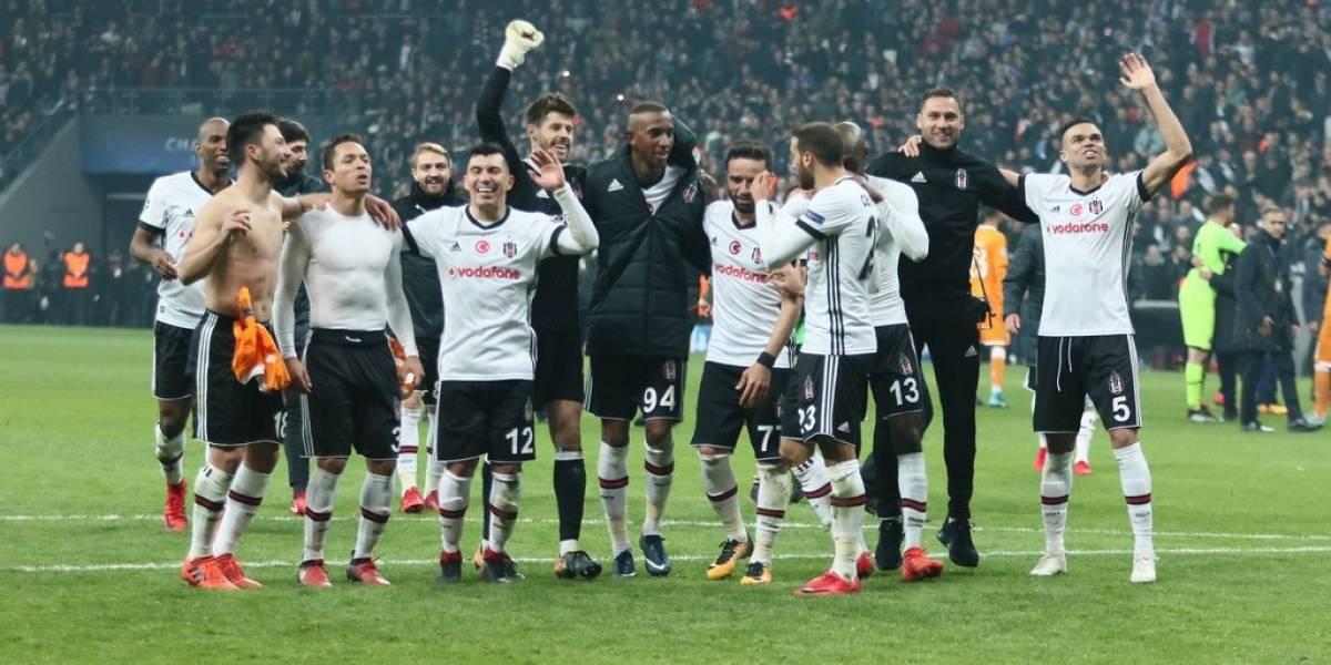 Gary Medel entra a la historia del Besiktas con clasificación a octavos de la Champions
