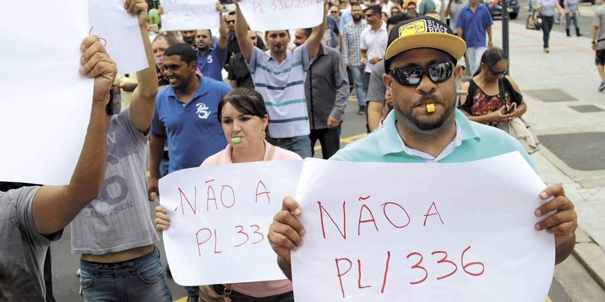 Motoristas de Uber protestam contra projeto da prefeitura de Campinas