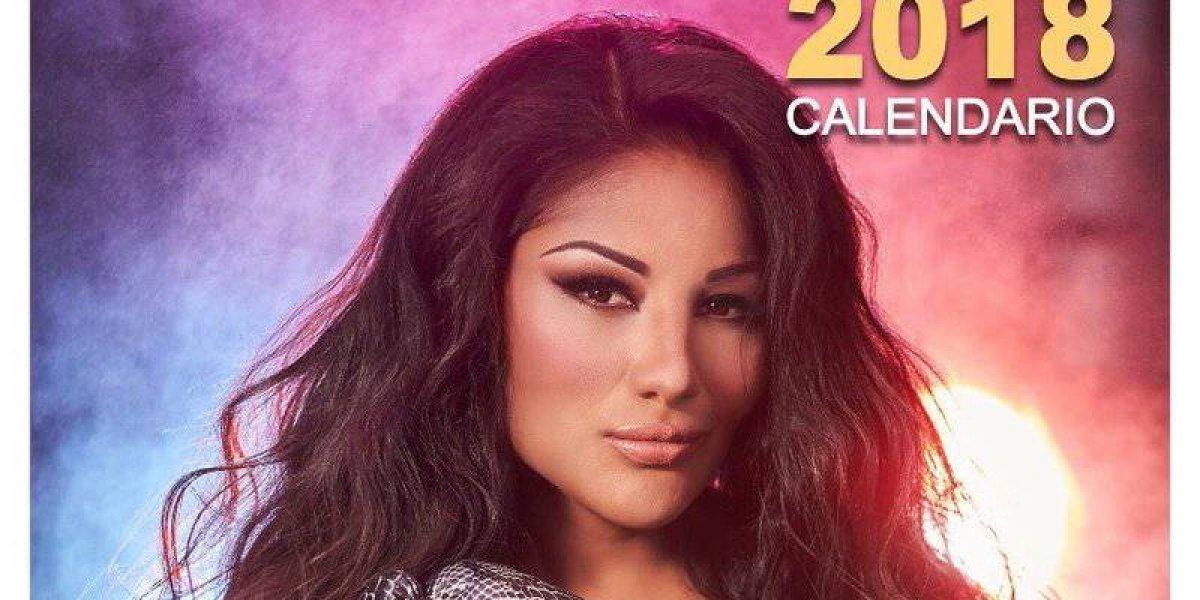 'Barby' Juárez presenta candente calendario 2018